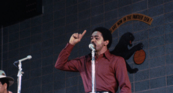 Bobby Seale in a scene from <i>Nationtime</i>, courtesy Kino Lorber