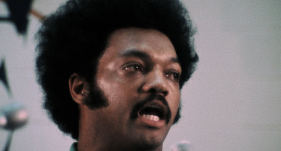 Rev. Jesse Jackson in a scene from <i>Nationtime</i>, courtesy Kino Lorber