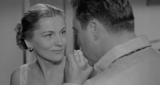 Joan Fontaine as Eve Graham in Ida Lupino's THE BIGAMIST.