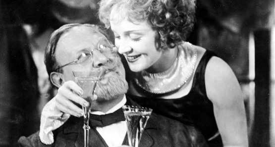 Marlene Dietrich and Emil Jannings in THE BLUE ANGEL.