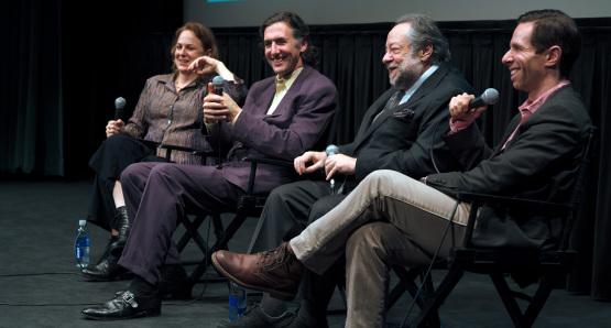 Molly Bernstein, Alan Edelstein, Ricky Jay, Scott Foundas at The New York Film Festival world premiere of Deceptive Practice, photo by Joe Holmes