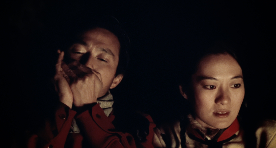 Dennis Dun as Jim and Rosalind Chao as Lalu in Nancy Kelly's THOUSAND PIECES OF GOLD.
